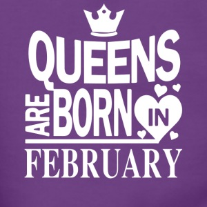 Birthday Shirt - Queens are born in FEBRUARY - Women's Premium Hooded Jacket