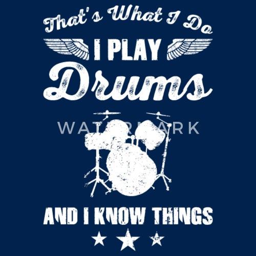 Drums T Shirt Geschenk Idee Geburtstag Lustig Frauen Premium
