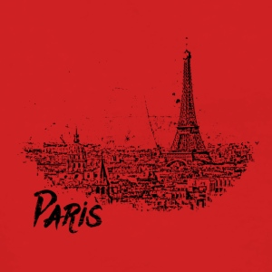 Paris - city view Sketch with Eiffel Tower - Women's Premium Hooded Jacket