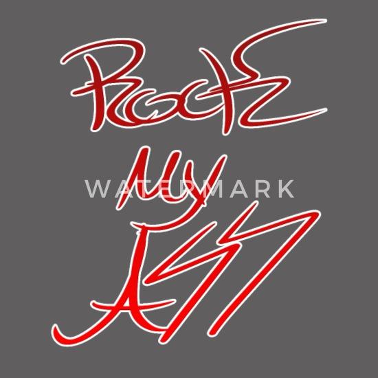 factory authentic 8b22d d3d8e Rock meinen Arsch in rot-weißer Schrift Frauen Premium ...