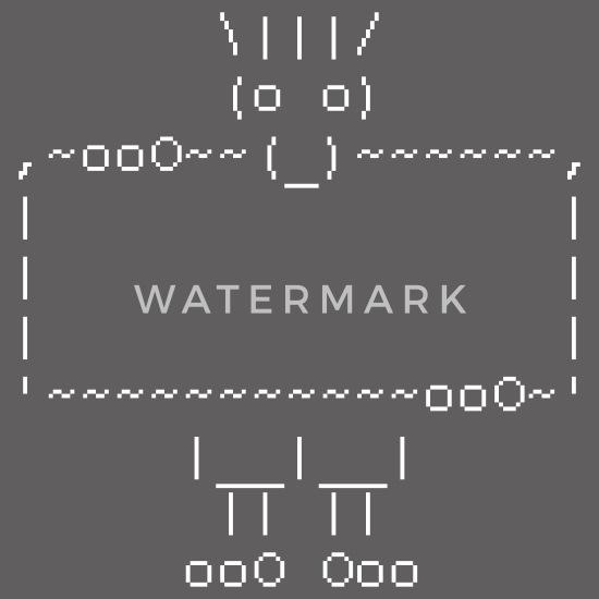 Ascii message art