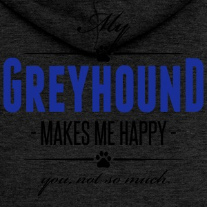 My Greyhound makes me happy - Women's Premium Hooded Jacket