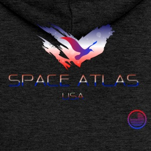 Space Atlas Tee USA - Women's Premium Hooded Jacket