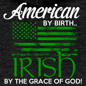 American by Birth - Irish by the grace of God - Women's Premium Hooded Jacket