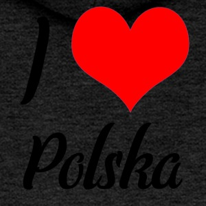 I love Polska - Women's Premium Hooded Jacket