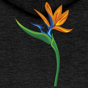 flower design bird of paradise strelitzia - Women's Premium Hooded Jacket