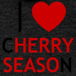 I Love Cherry Season T-Shirt - Women's Premium Hooded Jacket