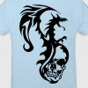 dragon tribal tatouage tete mort1 - T-shirt bio Enfant