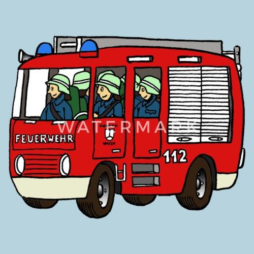 Feuerwehrauto Kinder Bio T Shirt Spreadshirt
