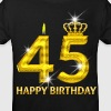 45 - happy birthday - birthday - number gold - Kids' Organic T-shirt