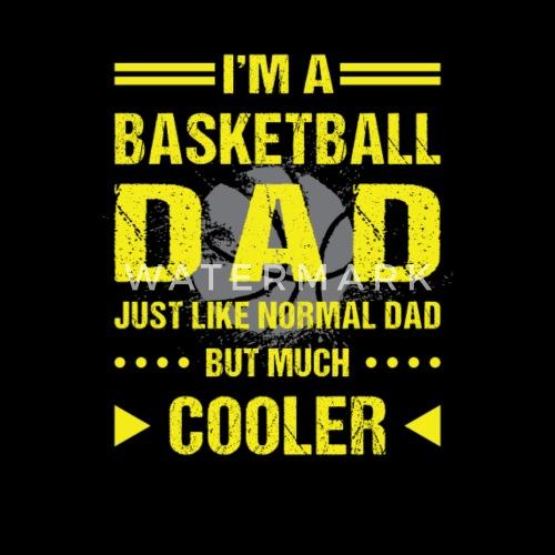 Io sono un papà di basket così più fresco che si - Maglietta ecologica per  bambini. Fronte. Retro. Motivo 6b986cedae55