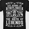1974 - 43 years - Legends - 2017 - Kids' Organic T-shirt
