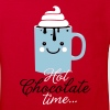 Funny cute mug with i love hot chocolate with sweet cream time slogan in cold snow freezing fall winter t-shirts for geek chic, trendy girls, gift friend christmas mothersday valentine's day - Kids' Organic T-shirt