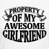 PROPERTY OF MY HORNY GIRLFRIEND! - Women's Organic T-shirt