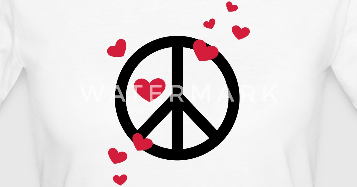Peace Heart Love Freedom Symbol Summer Hippie By Basic Style