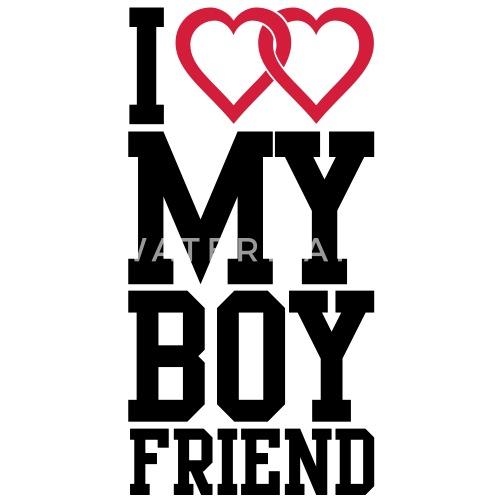 I Love My Boyfriend Vrouwen Bio T Shirt Spreadshirt