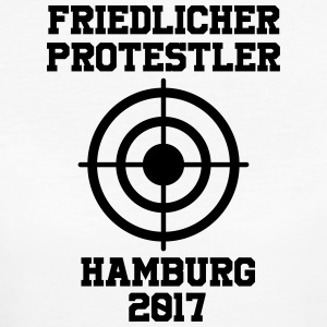 Peaceful Protestant Hamburg 2017 - Women's Organic T-shirt