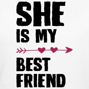 She is my best friend Left - Frauen Bio-T-Shirt