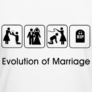 EVOLUTION OF MARRIAGE T-Shirts