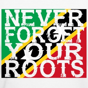 never forget roots home St Kitts und Nevis - Frauen Bio-T-Shirt