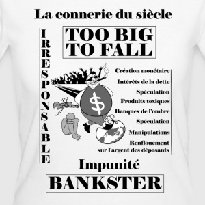 bankster irresponsible and unpunished - Women's Organic T-shirt