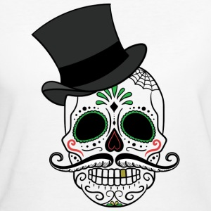 Skull with cylinder - Women's Organic T-shirt