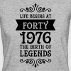 Life Begins at Forty - 1976 The Birth Of Legends - Camiseta ecológica mujer