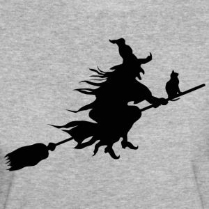 Mythical halloween witch with cat - Women's Organic T-shirt