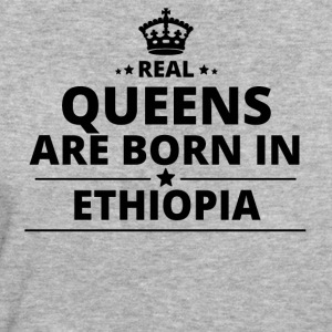 gift love queens are born ETHIOPIA - Women's Organic T-shirt