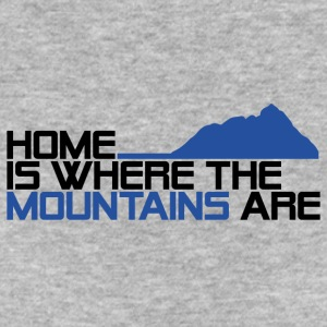 home is where the mountais are - Frauen Bio-T-Shirt