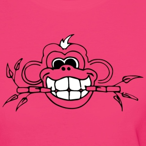 Bamboo Monkey whiteteeth - Vrouwen Bio-T-shirt