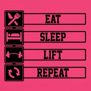 Eat Sleep Sollevare Repeat - T-shirt ecologica da donna
