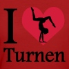 I love Turnen / I heart Turnen - Frauen Bio-T-Shirt