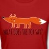what does the fox say renard meme Proverbes - T-shirt bio Femme