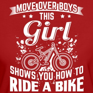 ridebike MOVE OVER this girl - Frauen Bio-T-Shirt