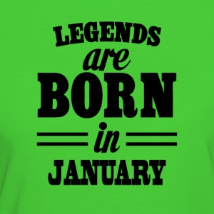 Legends are born in JANUARY - Women's Organic T-shirt