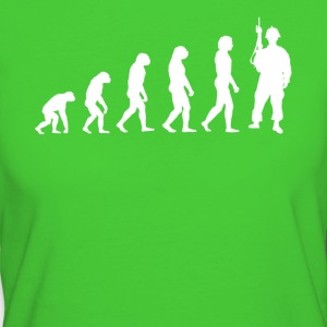 Evolution soldaat - Soldaten T-shirt! - Vrouwen Bio-T-shirt
