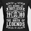 1980 - 37 years - Legends - 2017 - Camiseta ecológica mujer