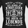 1990 - 27 years - Legends - 2017 - T-shirt bio Femme
