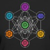 Metatrons Cube, Chakras, Cosmic Energy Centers - Camiseta ecológica mujer