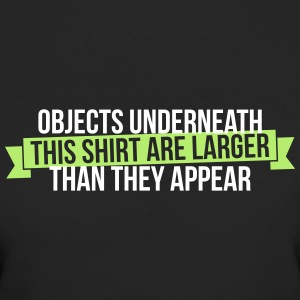 Objects underneath are larger - Frauen Bio-T-Shirt
