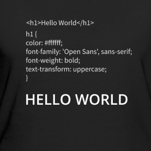Hello World - Frauen Bio-T-Shirt