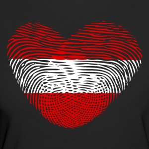 Fingerprint Heart DNA Austria Austria - Women's Organic T-shirt