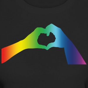 Pride Gay Lesbian Hands Heart Hands Hearts Love - Women's Organic T-shirt
