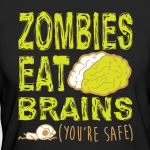 ZOMBIES EAT BRAINS T-SHIRT - Økologisk T-skjorte for kvinner