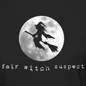 fair witch suspect flying little witch broom - Women's Organic T-shirt
