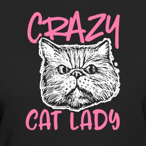 Crazy Cat Lady - Ekologisk T-shirt dam