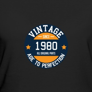 Vintage since 1980 - Age to Perfection Year of birth - Women's Organic T-shirt