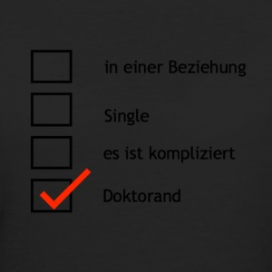 Single? Nein Doktorarbeit... - Frauen Bio-T-Shirt