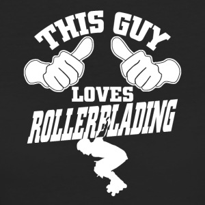 this guy loves rollerblading - Frauen Bio-T-Shirt